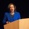 Buffalo Public School Superintendent Pamela Brown speaking at Buffalo State.