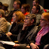 Audience listening to Buffalo Public School Superintendent Pamela Brown speaking at Buffalo State.