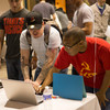 Buffalo State Computer Information Systems students participating in Computer Science Education Week activities.