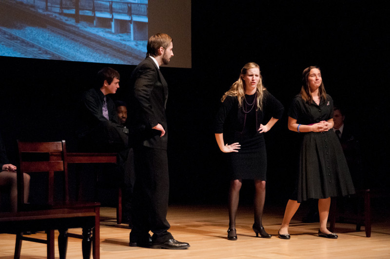 Buffalo State College student theater production of The Laramie Project.
