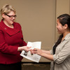 International Student Organization presenting check to the American Red Cross for Japan earthquake relief fund.