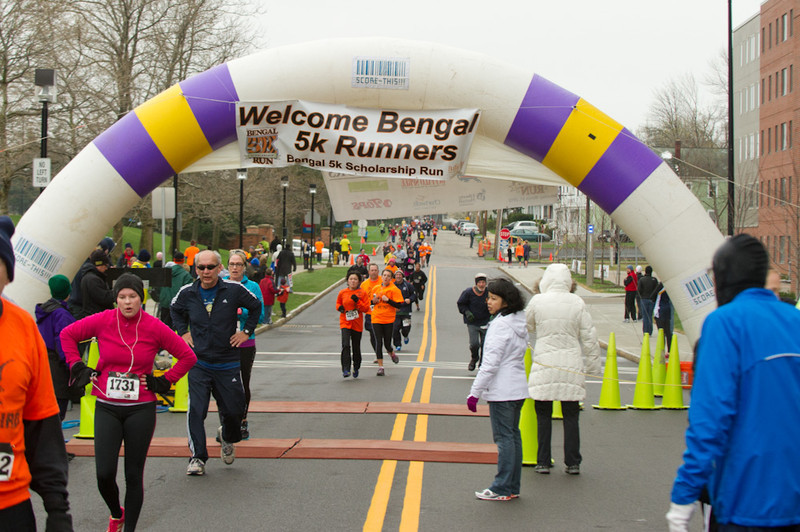 Bengal 5k Run scholarship fundraiser.