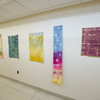 Student artwork displays for NASAD accreditation visit.