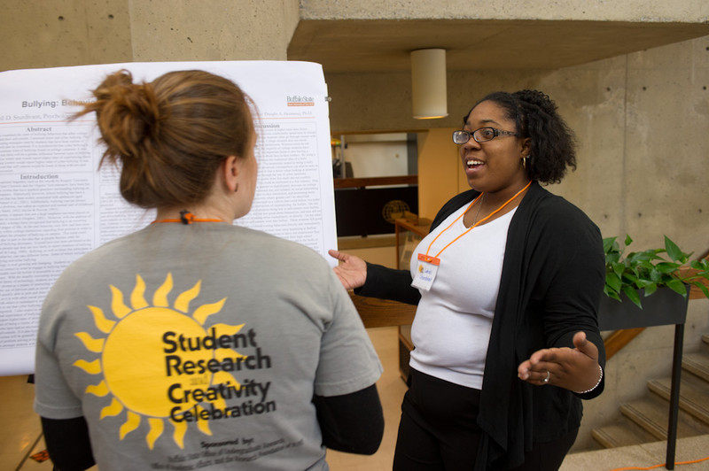 Student Research and Creativity Celebration in Butler Library.