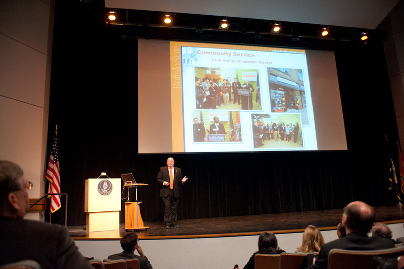 Annual State of the College Address by President Aaron Podolefsky.