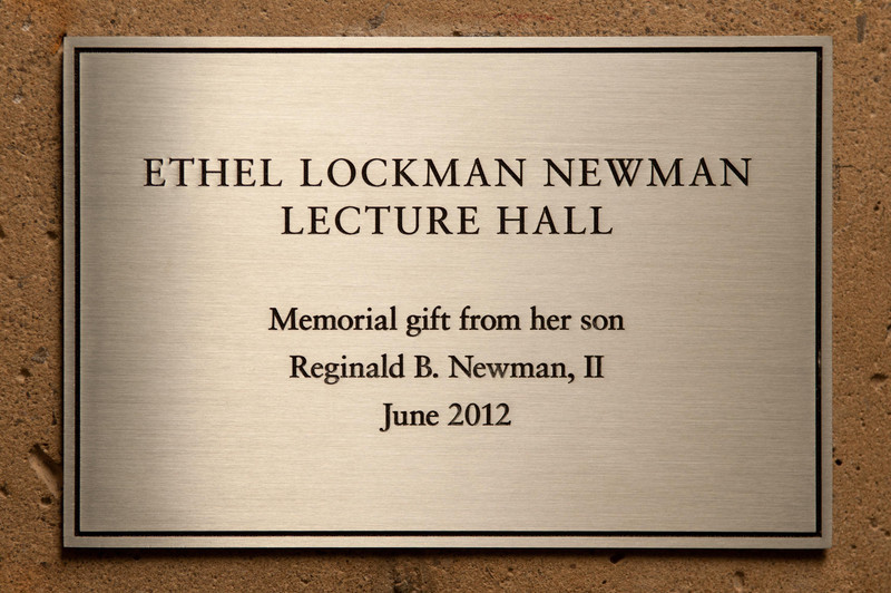 Ceremony for the renaming of Bulger North to the Ethel Lockman Newman lecture hall.