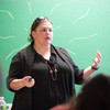 """""""Roles and Effects of Bystanders"""" presentation by Paula Madrigal during the Anne Frank Project at Buffalo State."""