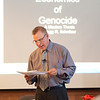 """Economic Reasons for Genocide"" presentation by Gregg Schnitzer during the Anne Frank Project at Buffalo State."