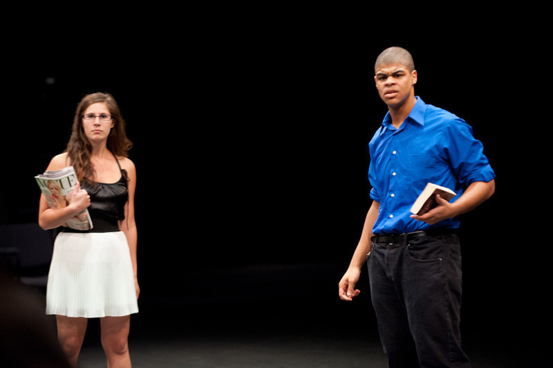 """Theater performance of """"Shakespeare's Richard III and Modern Dictatorship"""" during the Anne Frank Project at Buffalo State."""