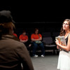 "Theater performance of ""Shakespeare's Richard III and Modern Dictatorship"" during the Anne Frank Project at Buffalo State."