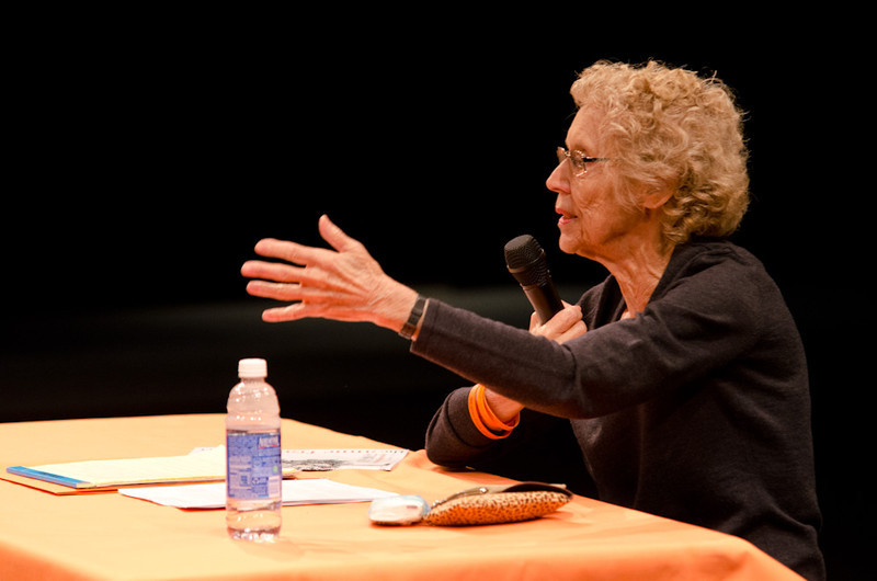 """""""Lessons from the Holocaust"""" presentation by Sophia Veffer during the Anne Frank Project at Buffalo State."""