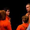 Anne Frank Project organizer Drew Kahn speaking with volunteers.