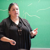 """Roles and Effects of Bystanders"" presentation by Paula Madrigal during the Anne Frank Project at Buffalo State."