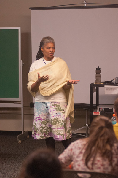 """Journey to Seneca Falls"" presentation by Annette Daniels Taylor during the Anne Frank Project at Buffalo State."