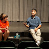 """""""Courage to Act"""" presentation by Eve Everette and Louis Sepulveda during the Anne Frank Project at Buffalo State."""