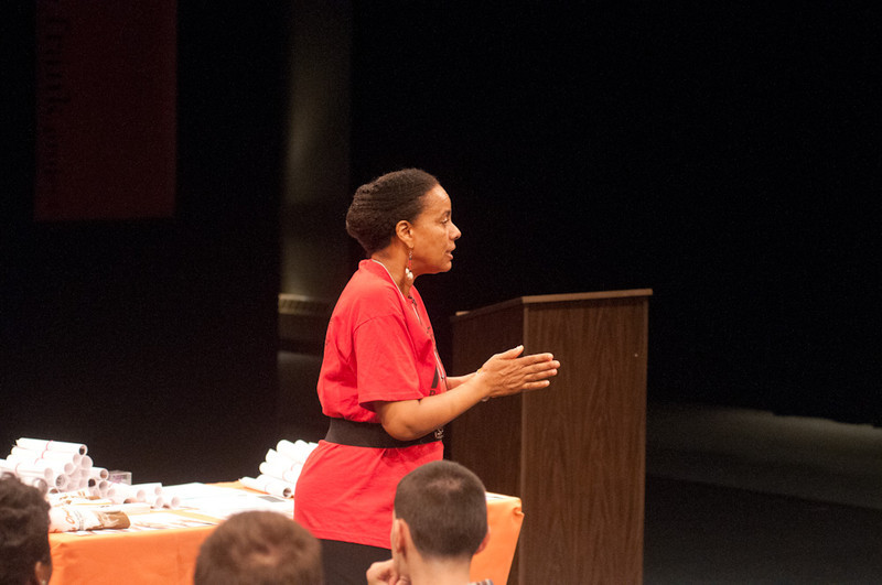"""Remind Our Souls"" presentation by Gail Wells during the Anne Frank Project at Buffalo State."