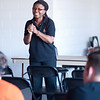 """""""Co Your Part...Be An Upstander"""" presentation during the Anne Frank Project at Buffalo State."""