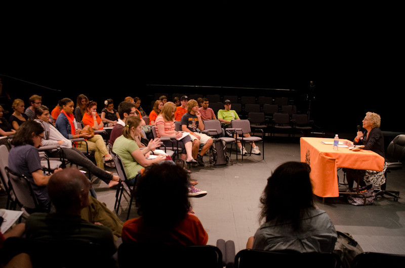 """Lessons from the Holocaust"" presentation by Sophia Veffer during the Anne Frank Project at Buffalo State."