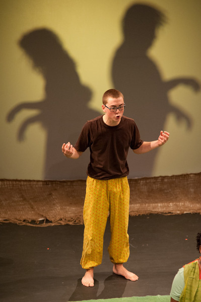 "Theater production of ""When the Walls Come Down: Truth"" during the Anne Frank Project at Buffalo State."