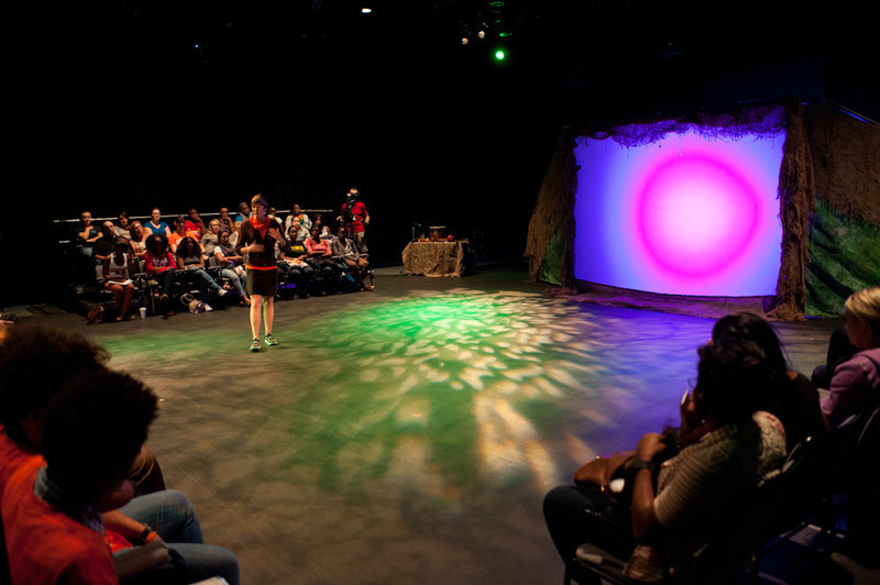 """Theater production of """"When the Walls Come Down: Truth"""" during the Anne Frank Project at Buffalo State."""