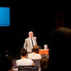 """""""World of Nazi Camps"""" presentation by Joe White during the Anne Frank Project at Buffalo State."""