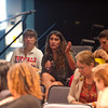Audience participation during Ronnie Podolefsky's presentation during the Anne Frank Project at Buffalo State.