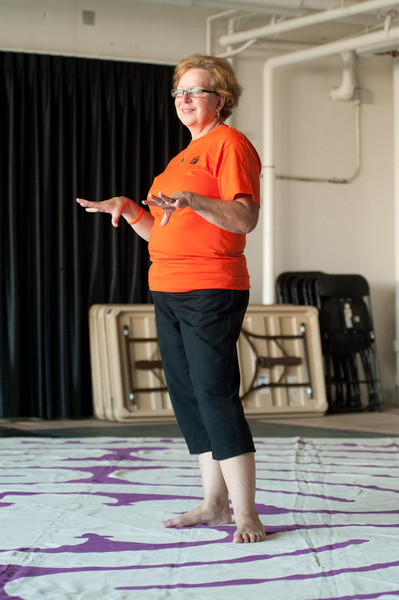 """""""Walking the Path of Forgiveness"""" presentation by Jean Campbell during the Anne Frank Project at Buffalo State."""