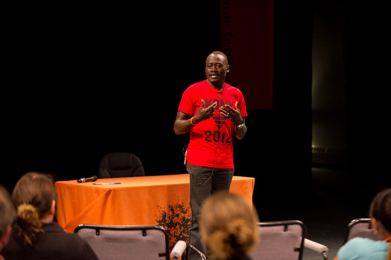 """""""Invisible Children"""" presentation during the Anne Frank Project at Buffalo State."""