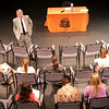 """World of Nazi Camps"" presentation by Joe White during the Anne Frank Project at Buffalo State."