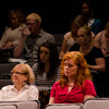 Audience listening to Eva Hassett speaking at the Anne Frank Project at Buffalo State.