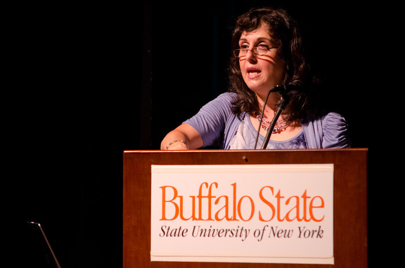 """""""Respect for Diversity"""" presentation by May Shogan during the Anne Frank Project at Buffalo State."""