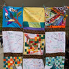 "Students taking part in ""Stitching Community Together"" quilt project during the Anne Frank Project at Buffalo State."