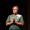 """Commedian Tim Joyce presenting """"I Did Not Know I Was a Racist"""" during the Anne Frank Project at Buffalo State."""