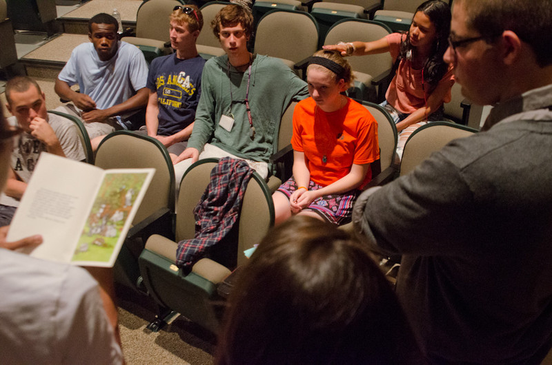 """""""Spread the Word"""" presentation by Jonathan Pollino during the Anne Frank Project at Buffalo State."""