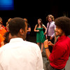 "Ohio State a capella group ""Dynamic Contrast"" performing during the Anne Frank Project at Buffalo State."