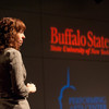 2012 New York State Teacher of the Year, Katie Ferguson speaking at Buffalo State.