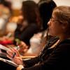 2012 New York State Teacher of the Year, Katie Ferguson speaking at Buffalo State.