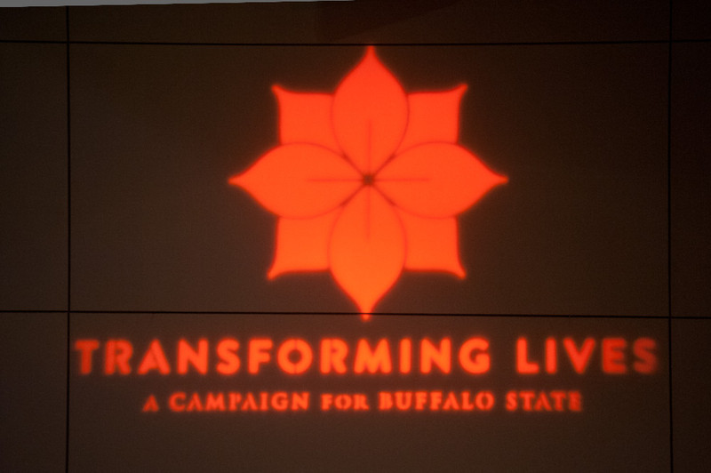 "Kickoff for the ""Transforming Lives"" fundraising campaign for Buffalo State."