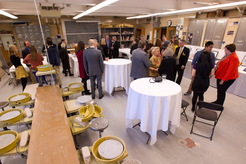 Sylvia Rosen Ceramics Room renaming ceremony in Upton Hall.