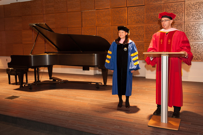Honorary Bachelor of Music degree presented to Edward Klein.