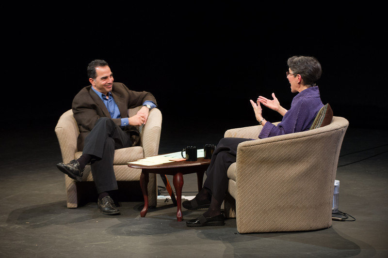 Dr. Teresa Amabile being interviewed by the International Center for Studies in Creativity  chair, Gerard Puccio at SUNY Buffalo State.