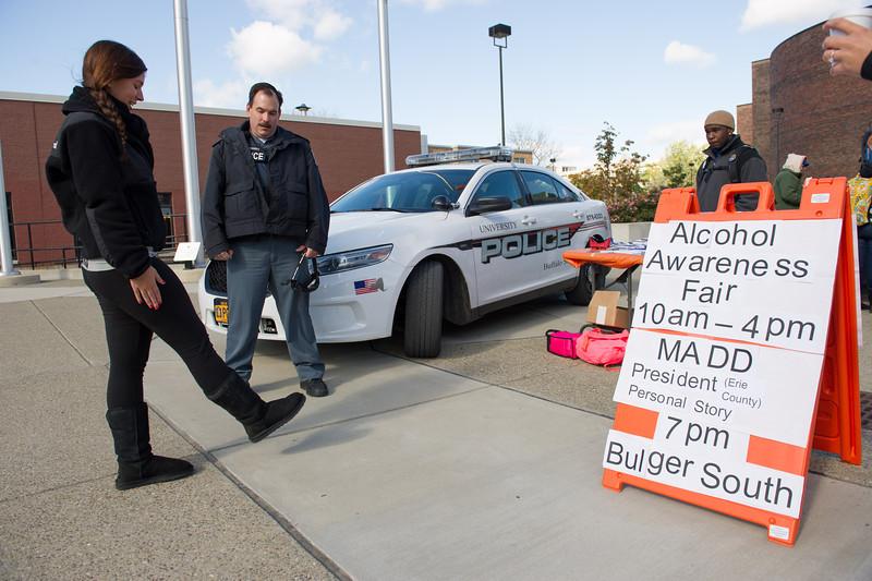 Alcohol Awareness Week activities at SUNY Buffalo State.