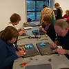 Artist Carol Molnar's Woodland Dimensions workshop during An Evening for Educators at the Burchfield-Penney Art Center.