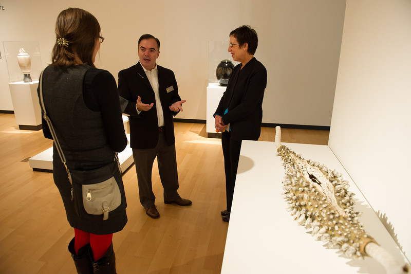 Collector Joseph Lonzi's Crafting a Collection workshop during An Evening for Educators at the Burchfield-Penney Art Center.