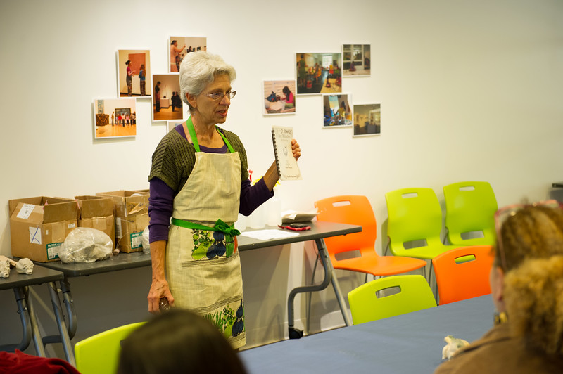 Artist Deb Stewart's Whistles and Ocarinas workshop during An Evening for Educators at the Burchfield-Penney Art Center.