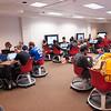 SUNY Buffalo State Professor Ken Fujiuchi's class in 316 Butler Library.