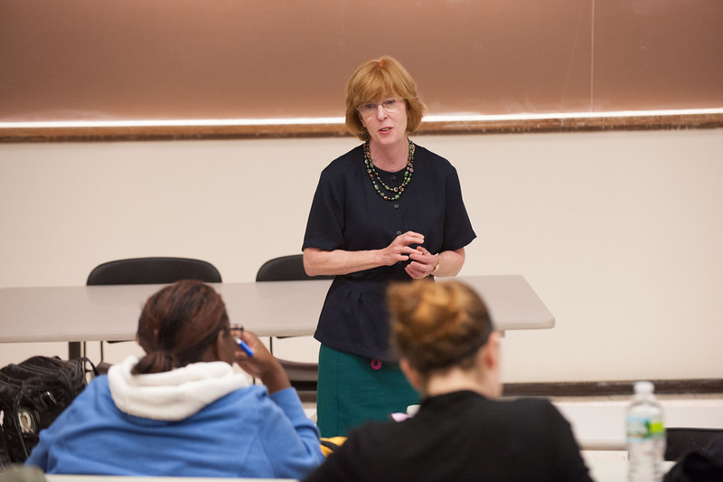 Professor Marie Murray's Dietetics and Nutrition class at SUNY Buffalo State.