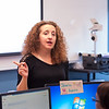 Professor Ramona Santa Maria's Computer Information Systems class in Technology Building at Buffalo State.