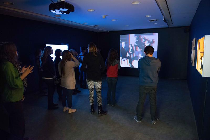 Buffalo State Art History class touring Albright-Knox Art Gallery.