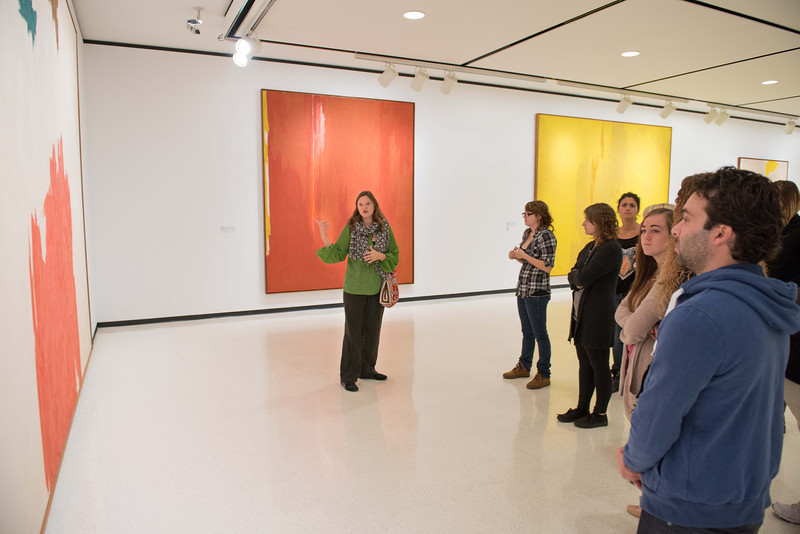 Buffalo State Art History class touring Albright-Knox Art Gallery.